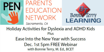 holiday activities for ADHD and Dyslexia