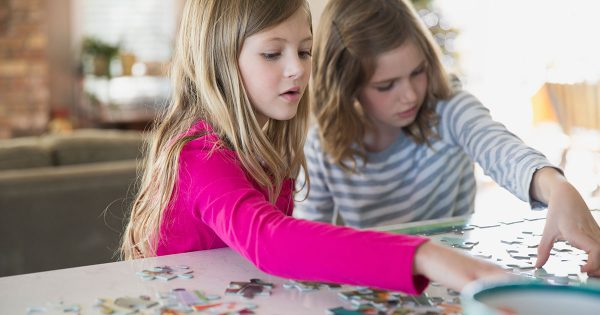 Girls Puzzle Auditory Visual Closure and Reading Fluency