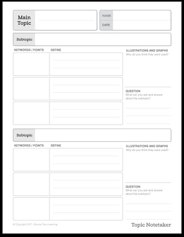 Notetaker Graphic Organizer