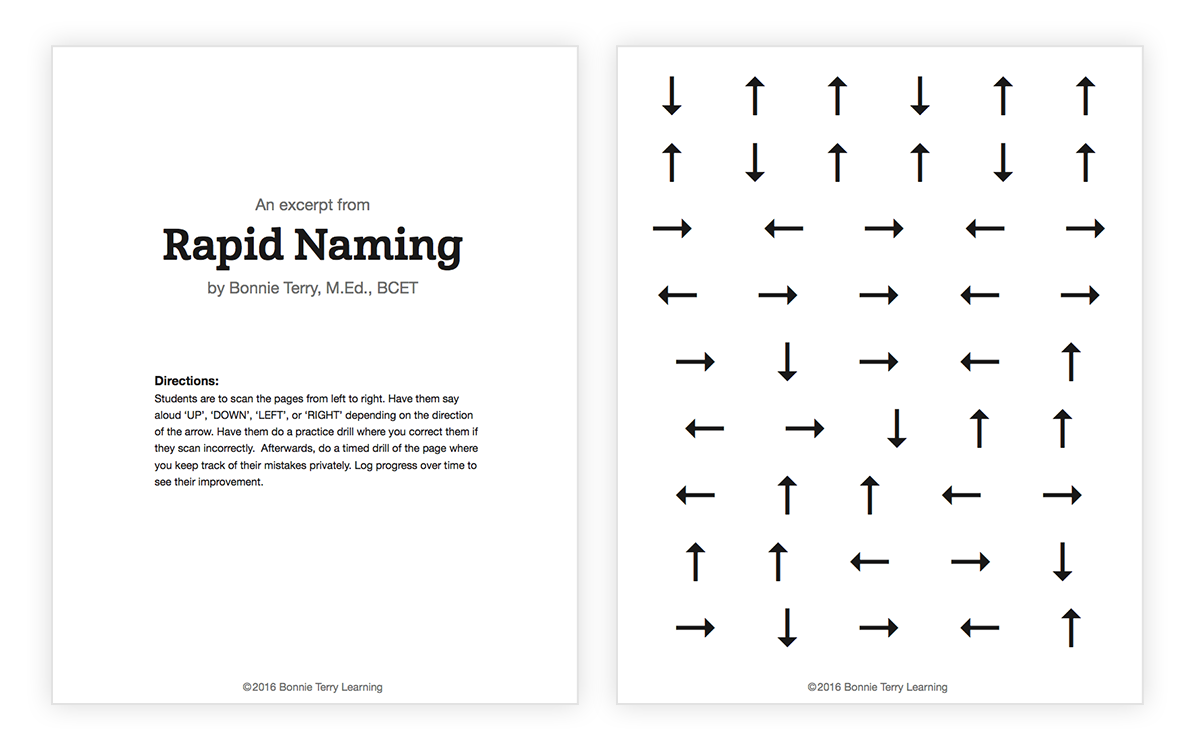 An Excerpt from Rapid Naming